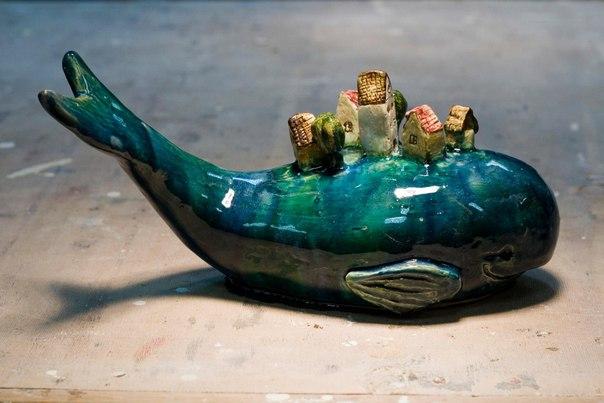 Лодка из глины полимерной глины